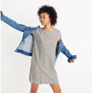 Madewell Striped Button Back Tee Dress
